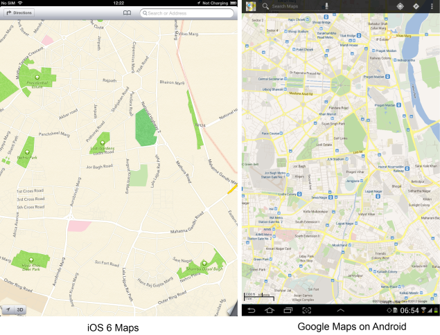 Doubts about the Google Maps App for iOS 6