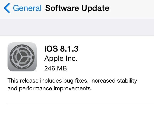 iOS 8.1.3 Reduces Amount of Free Space Required for OTA Update; Brings Other Fixes