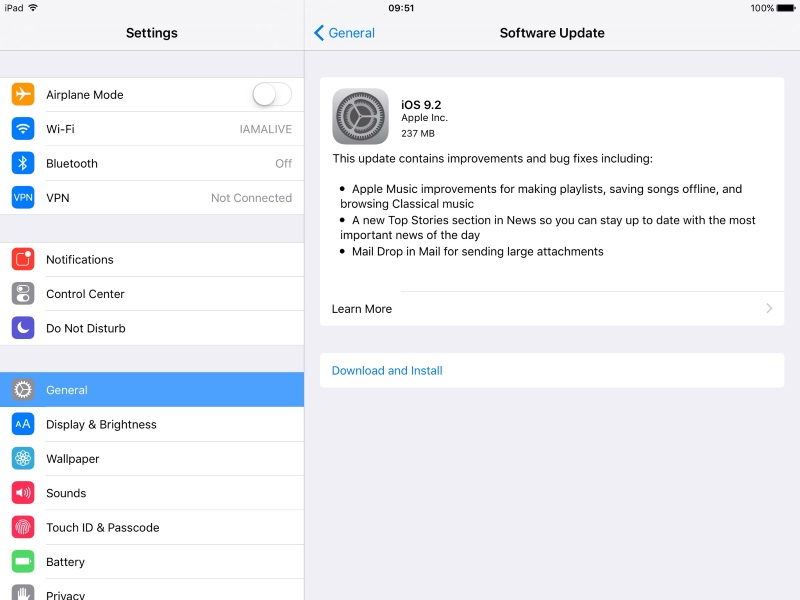 iOS 9.2 Now Available for Download; Brings Apple Music Enhancements, Other Improvements and Fixes