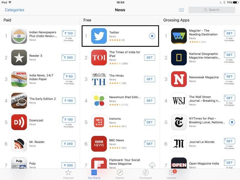 Twitter No Longer a Social Network but a News App on Apple's App Store