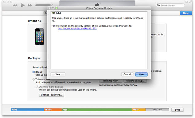 Apple rolls out iOS 6.1.1 update for iPhone 4S; includes connectivity fixes
