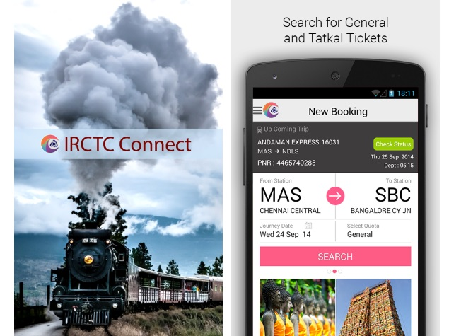 IRCTC Connect Official Android App Now Available for Download