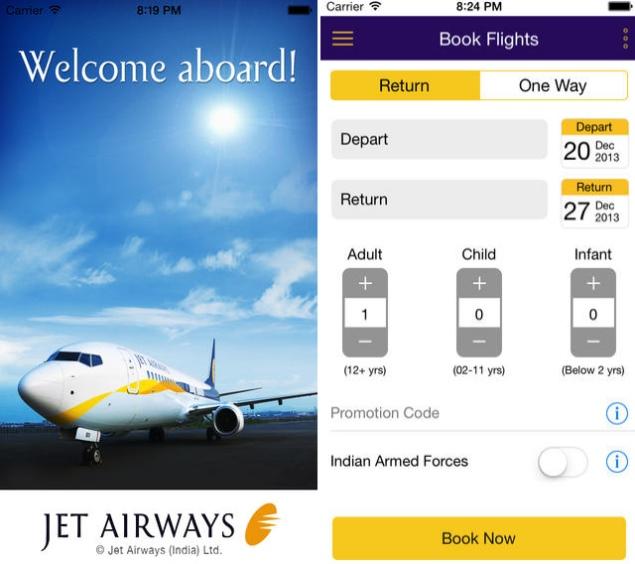 Jet Airways launches iOS app, featuring Passbook app support