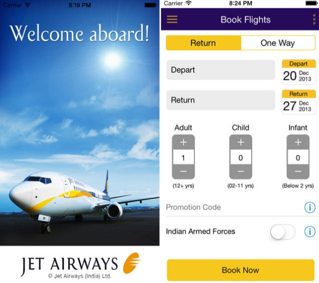 Jet Airways Launches Ios App Featuring Passbook App Support