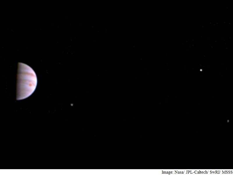 Nasa's Juno Mission Sends First Image of Jupiter, Its Moons