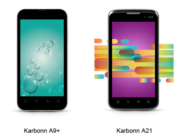 Karbonn unveils A9+ and A21 dual-SIM smartphones with Android 4.0