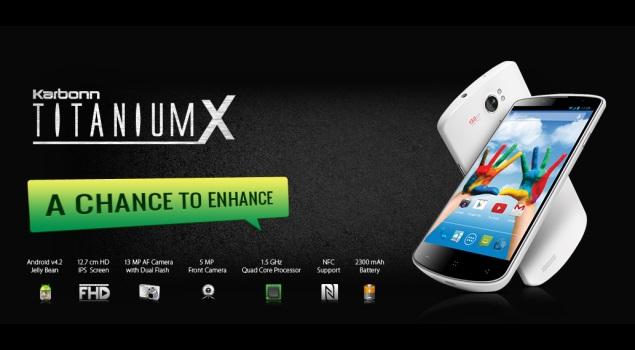Karbonn Titanium X quad-core phablet with 13-megapixel camera listed online