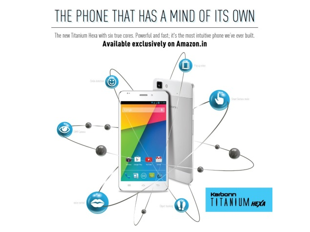 Karbonn Titanium Hexa to Be Exclusively Available via Amazon India From May 20