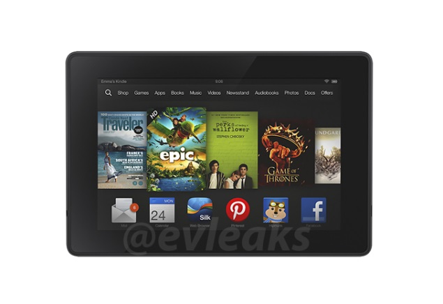 Amazon Kindle Fire HD refresh allegedly leaked again in press render
