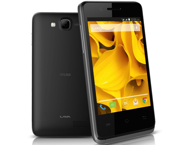 Lava Iris 350 With 3G Support, Android 4.4.2 KitKat Launched at Rs. 3,499