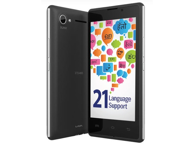 Lava Iris 465 With Support for 21 Indian Languages Launched at Rs. 4,499