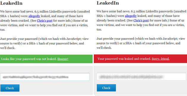 Check for compromised LinkedIn passwords using LeakedIn web app