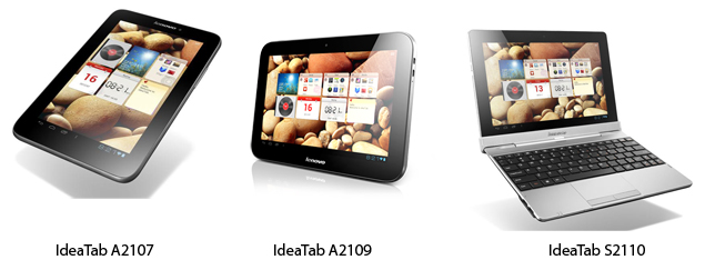 Lenovo launches three new Android 4.0 tablets