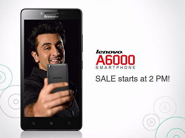 Lenovo A6000 Flash Sale on Wednesday to See 20,000 Units Up for Grabs