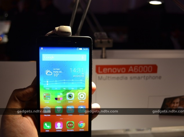 Lenovo A6000 Launched at CES; To Take on Micromax's Yu Yureka and Xiaomi Redmi Note 4G