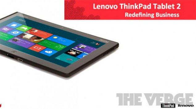 Windows 8 Lenovo ThinkPad Tablet 2 details leaked