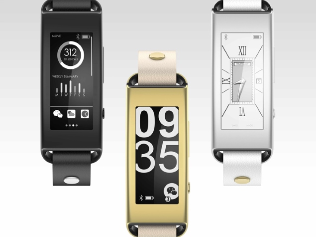 Lenovo Vibe Band VB10 With Curved E-Ink Display Launched at CES 2015
