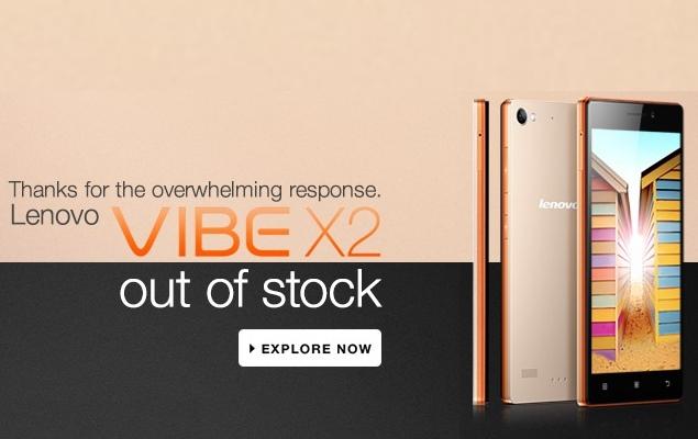 Lenovo Vibe X2 'Sold Out'; Fresh Stock Expected Thursday on Flipkart