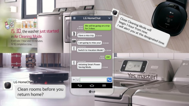 LG HomeChat service for smart home appliances to be showcased at CES 2014