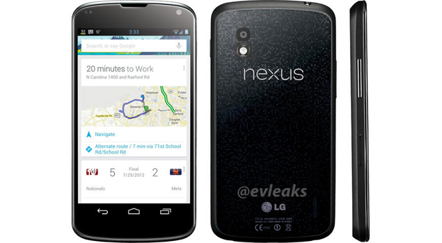 LG Nexus 4 press shot leaks with Nexus branding at the back