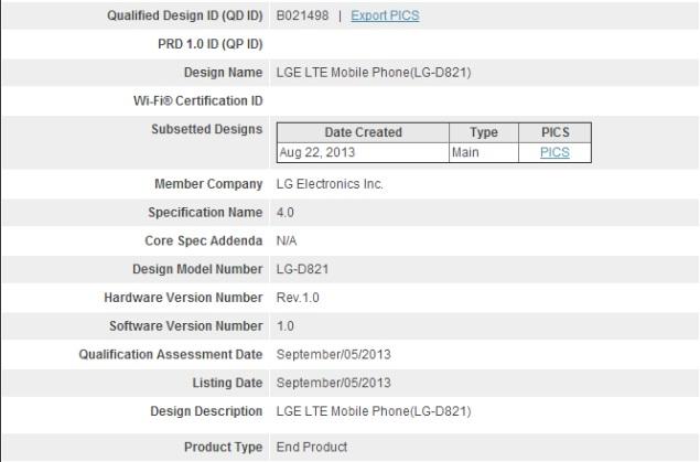Rumoured Google Nexus 4 successor spotted in Bluetooth SIG filing