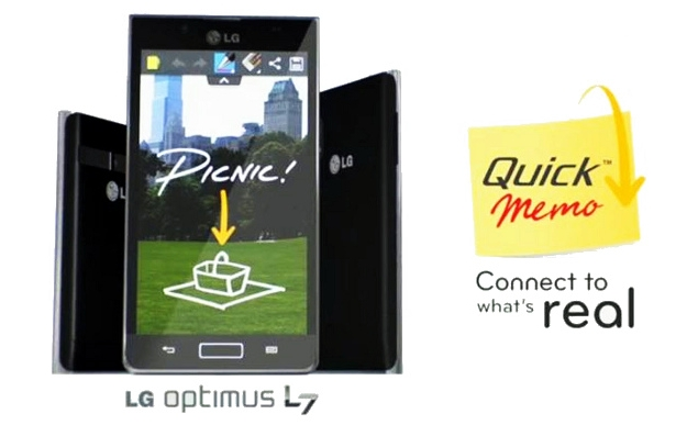 LG announces QuickMemo for Optimus L-series