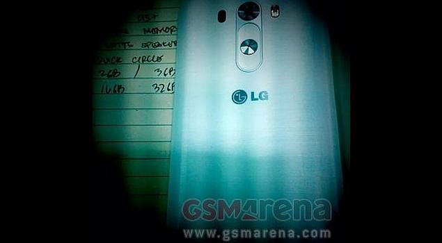 LG G3 reportedly spotted in images showing off rear ...
