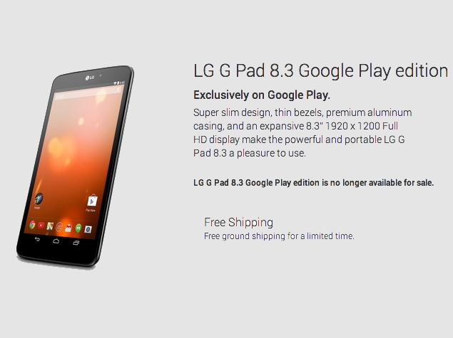 Some Google Play Edition Smartphones No Longer Available for Sale