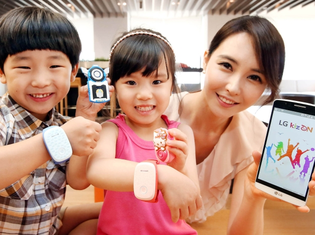 LG Launches KizON Wristband to Help Parents Keep Track of Their Kids