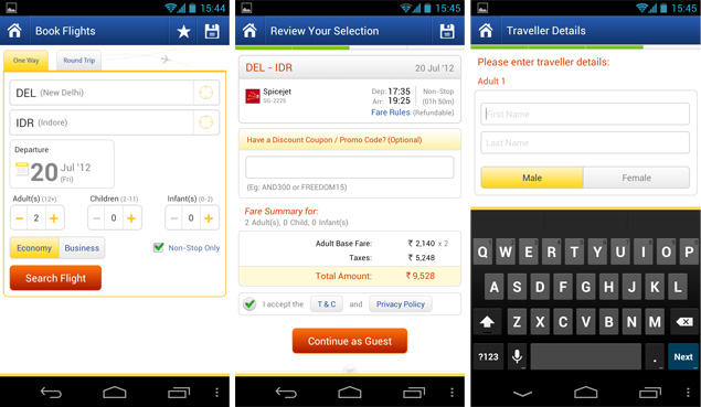 MakeMyTrip Promo Code is valid once per user. MMT Coupon Code Offer is valid for one domestic flight booking per user. Get Rs CashKaro Cashback on Domestic Flights on both MMT Desktop & Mobile site. There is NO Cashback on MakeMyTrip App Transactions.