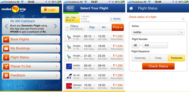MakeMyTrip app launches for iOS and Android