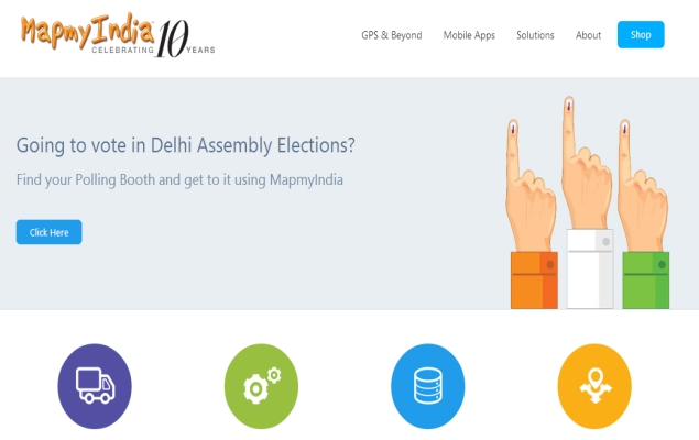 Delhi Elections 2015: MapmyIndia Launches Polling Booth Locator