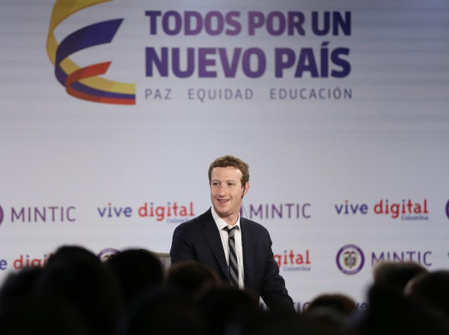 Facebook CEO Launches Free Internet Project in Colombia; Holds Public Q&A