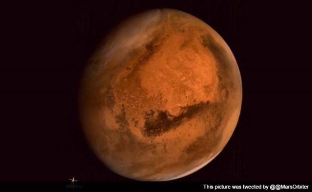 Isro's Mars Orbiter Beams Back Image of Dust Storm Activities