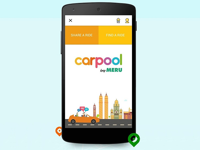 Meru Launches App-Based 'CarPool' Service
