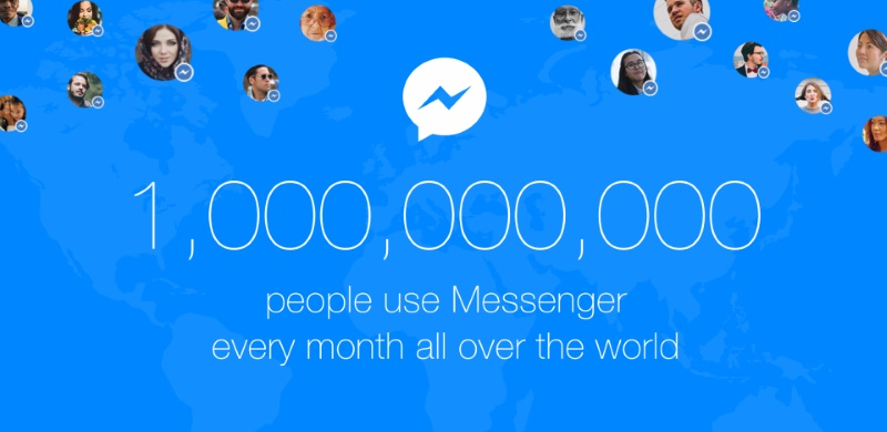 Facebook Messenger Hits 1 Billion Monthly Active Users