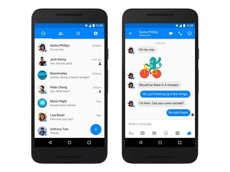 Facebook Messenger for Android Gets Material Design Revamp