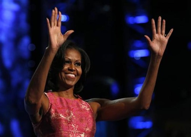 Michelle Obama wows social media, TV audience soars