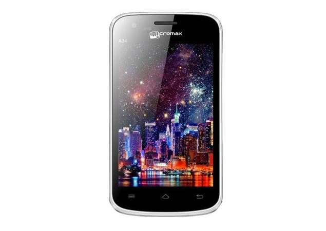 Micromax A34 with Android 2.3 now available for Rs. 4,399