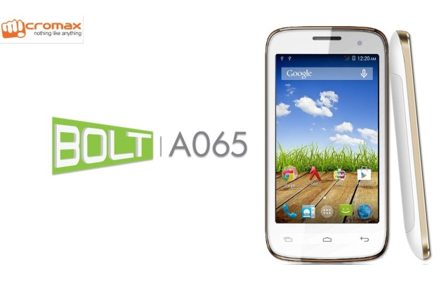 Micromax Bolt A065 With Android 4.4.2 KitKat Available Online at Rs. 3,799