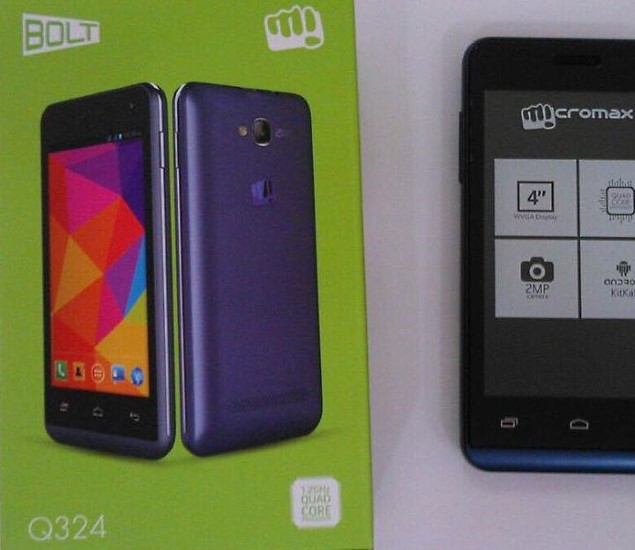 Micromax Bolt Q324 With Quad-Core SoC Reportedly Launched at Rs