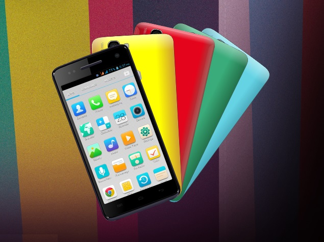 Micromax Canvas 2 Colours with switchable back panels listed on company's site