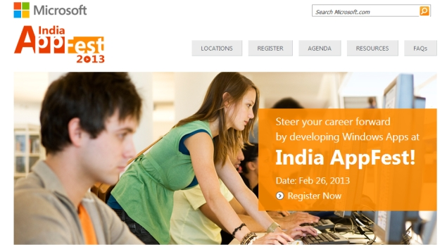 Microsoft India holding AppFest at over 50 locations on February 26