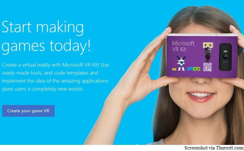 Microsoft VR Kit a Google Cardboard-Like Virtual Reality Headset: Report