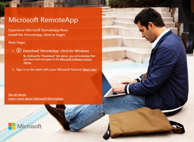 Microsoft Previews Azure RemoteApp Windows-as-a-Service Offering