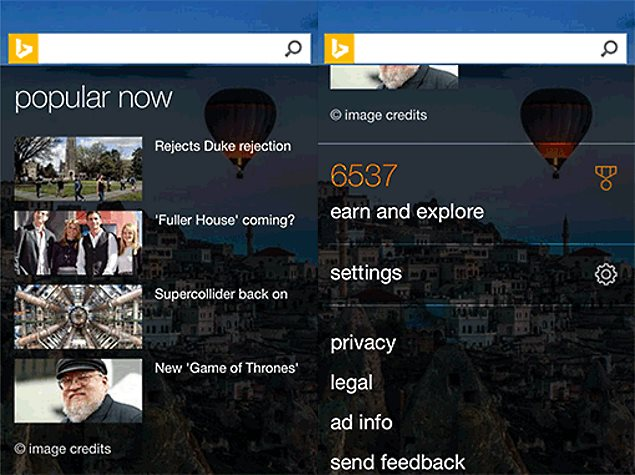 Microsoft Revamps Bing Website for Android and iPhone