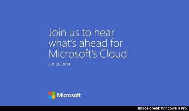 Microsoft to Share Future of Its Cloud Business at October 20 Event