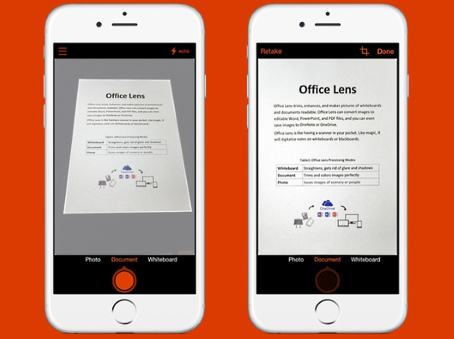 Microsoft office lens document scanner app launched for - Best document scanner for home office ...