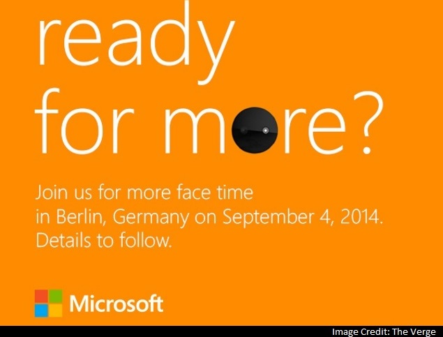 Microsoft Teases Selfie-Focused Smartphone Launch at September 4 Event