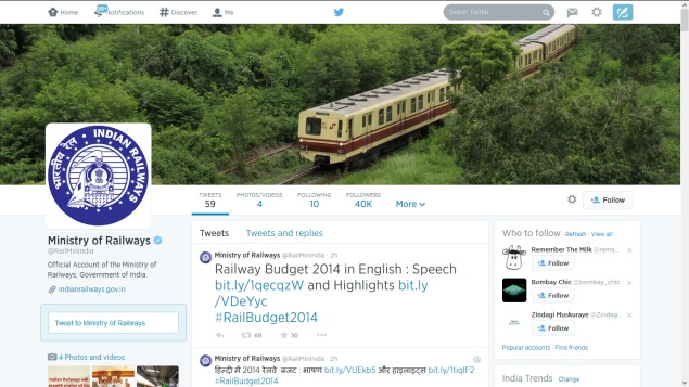 Railway Ministry's Twitter Following Surges Post Budget